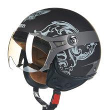 Open Face Biker Helmet Visor Capacetes Motociclistas