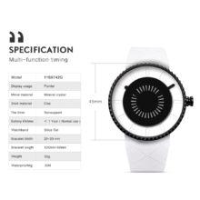 Quartz Wristwatch Unique Gear Waterproof Silicone Rotation Watch